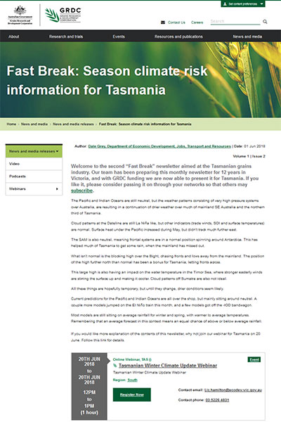 Tasmania - The Fast Break